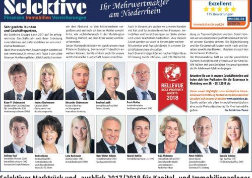 Selektiver Marktrück und -ausblick 2017/2018 für Kapital- und Immobilienanleger