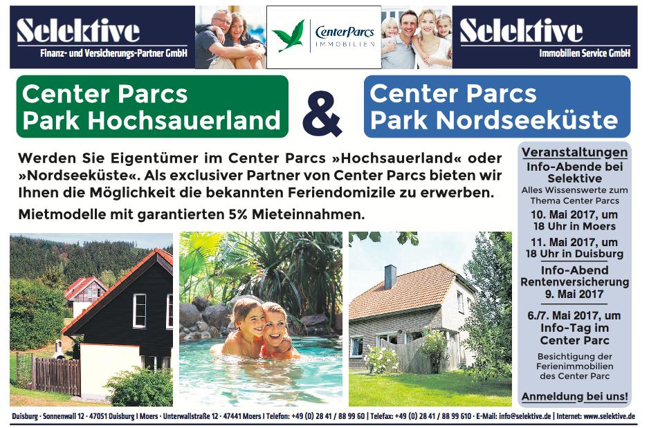 Anzeige Selektive Kooperation mit Center Parks